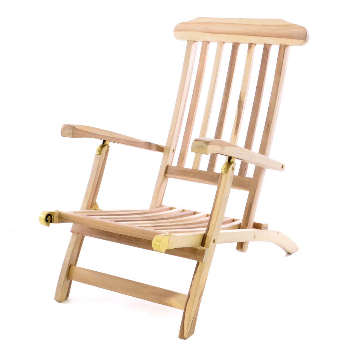 DIVERO Liegestuhl Deckchair \
