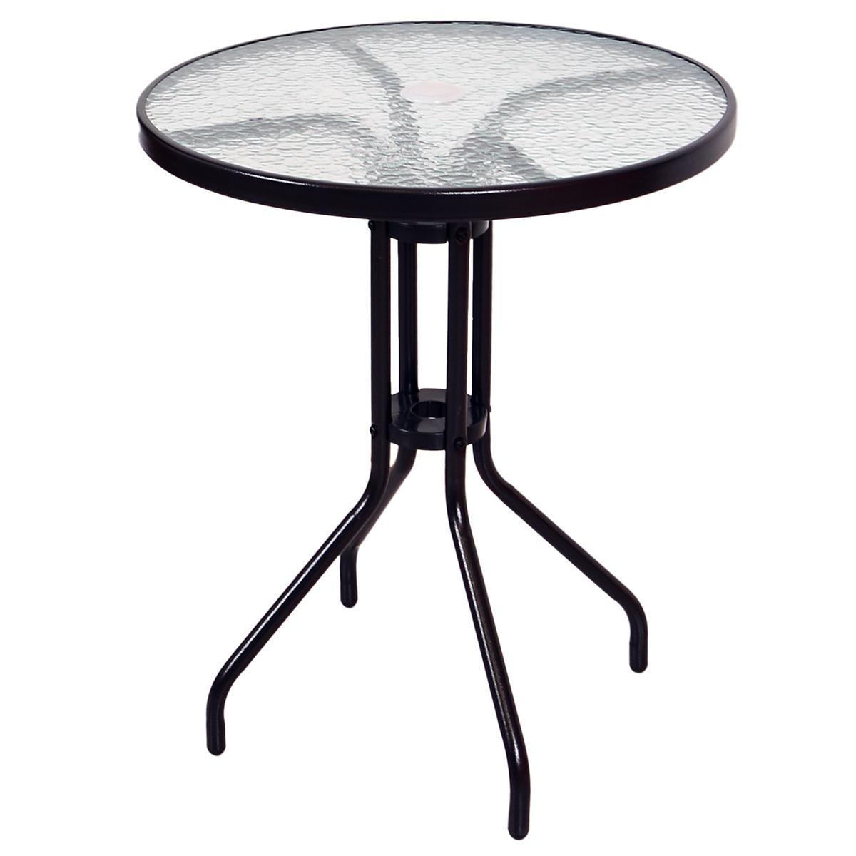 Bistrotisch mit Glasplatte Glastisch Gartentisch Terrassentisch Tisch Glas