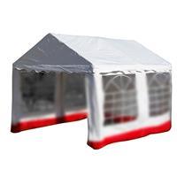 Ersatzdach Dachplane für Pavillon Zelt Festzelt PVC 400 g/m² 3 x 4 m Farbe weiß