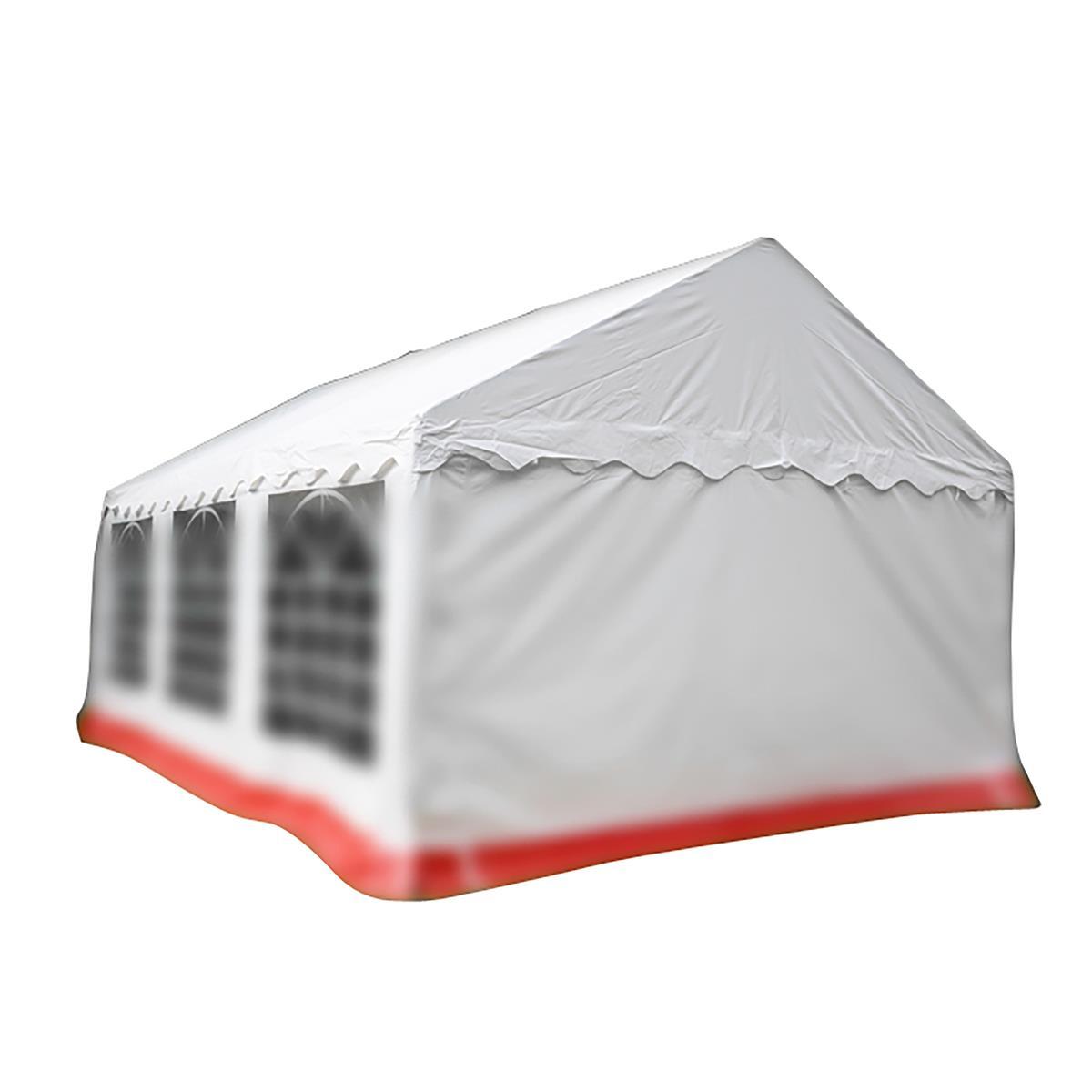 Ersatzdach Dachplane für Partyzelt Pavillon Zelt Festzelt PVC 4 x 6m weiß