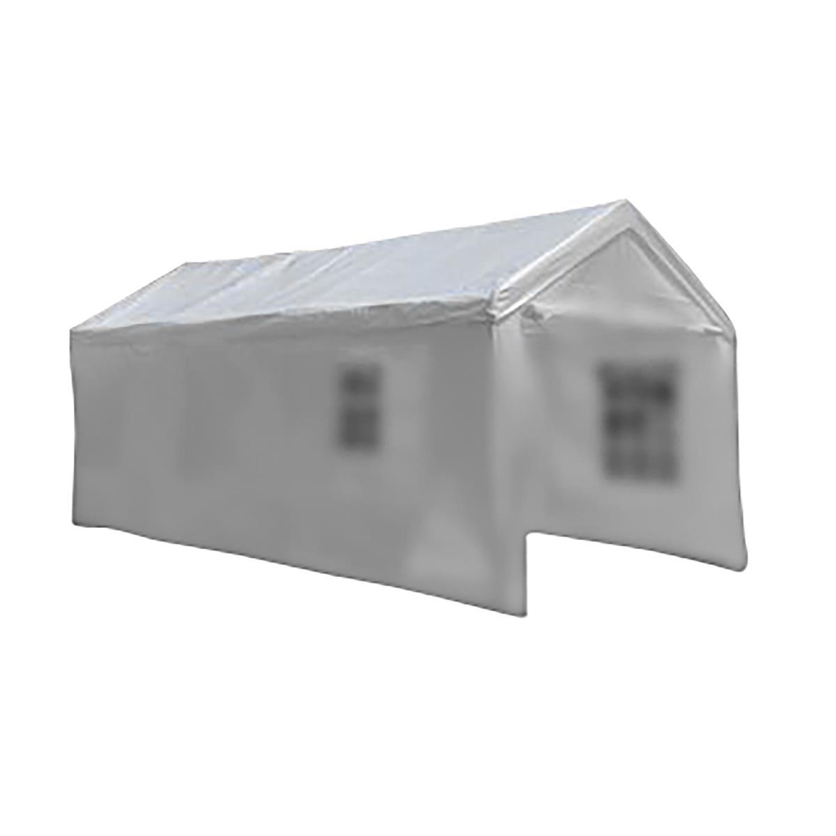 Ersatzdach Dachplane für Partyzelt Pavillon Zelt Festzelt PE 4 x 8m weiß