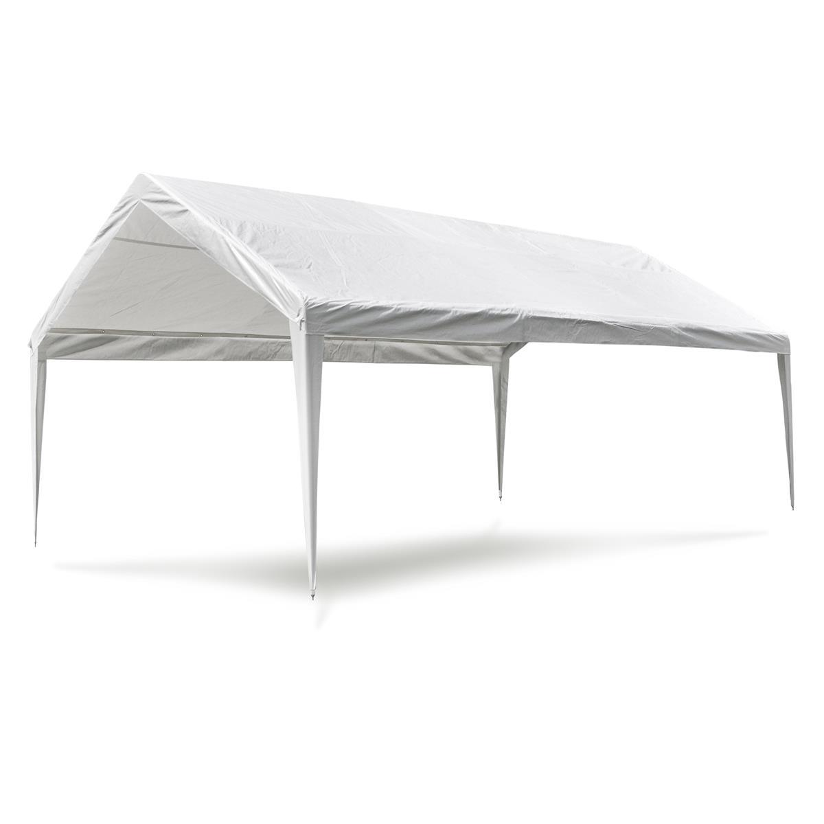 Ersatzdach Dachplane für Partyzelt Pavillon Zelt Festzelt PE 4 x 6m weiß