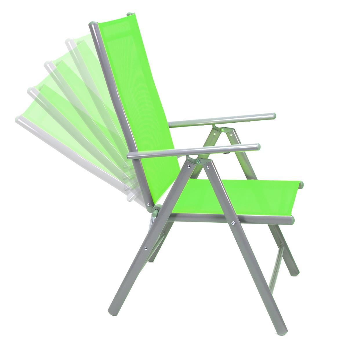 7-teiliges Gartenmöbel-Set grün Alu Gartengarnitur aus ...