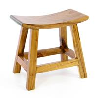 DIVERO Hocker Schemel aus Suar Holz Holzhocker Sitzhocker massiv behandelt