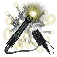 40 LED Lichterkette warm-weiß grünes Kabel Trafo Timer Party-Deko Weihnachtsdeko