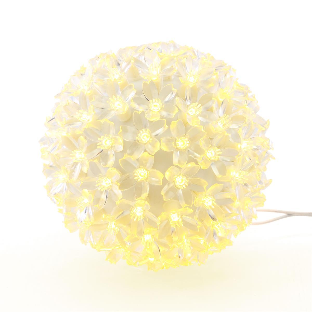 50 LED Lichterball warm weiß 12 cm Lichterkugel Leuchtball Weihnachten Dekokugel