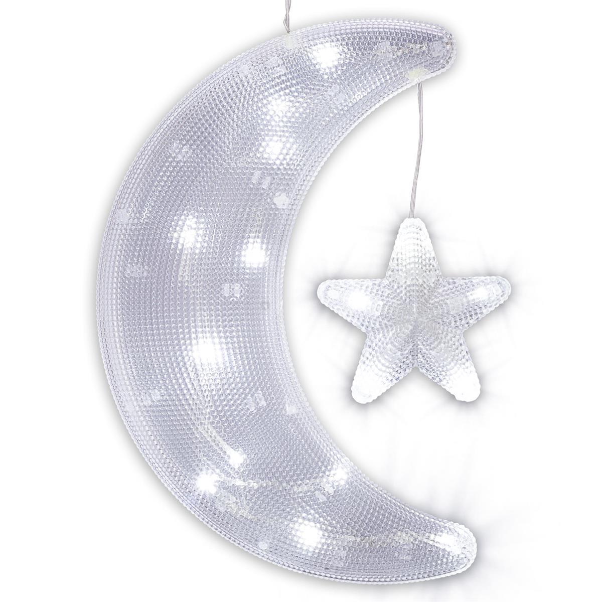 20er LED Dekofigur Weihnachtsfigur Weihnachtsdekoration Leuchtfigur Weiß