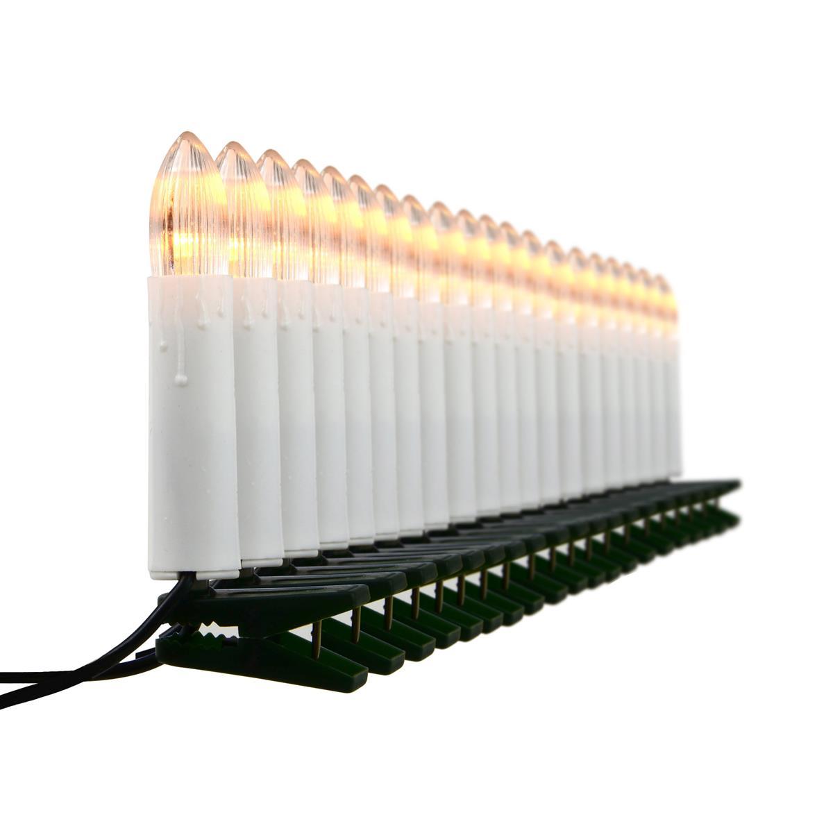 20 LED Lichterkette Weihnachtsbaumbeleuchtung warm weiß Christbaumkerzen Xmas