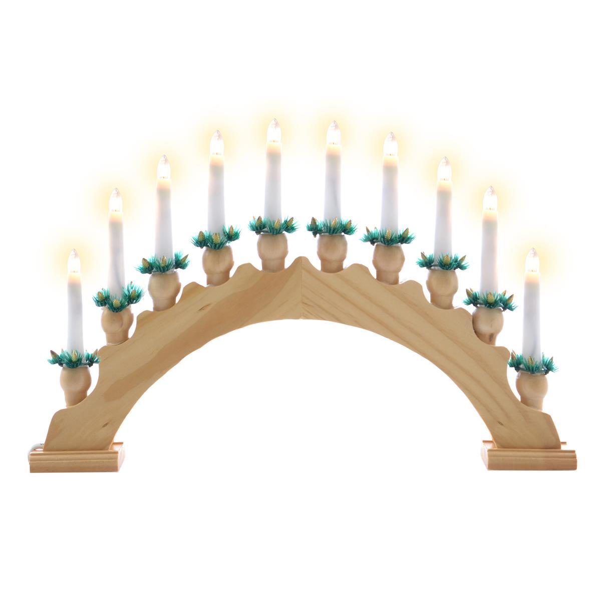 Led Weihnachtsbeleuchtung Warmweiss.Schwibbogen Lichterbogen 10 Led Lichter Weihnachtsbeleuchtung