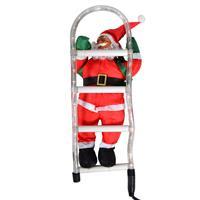 Weihnachtsmann an Leiter Santa Claus Nikolaus Weihnachten Weihnachtsdeko Figur