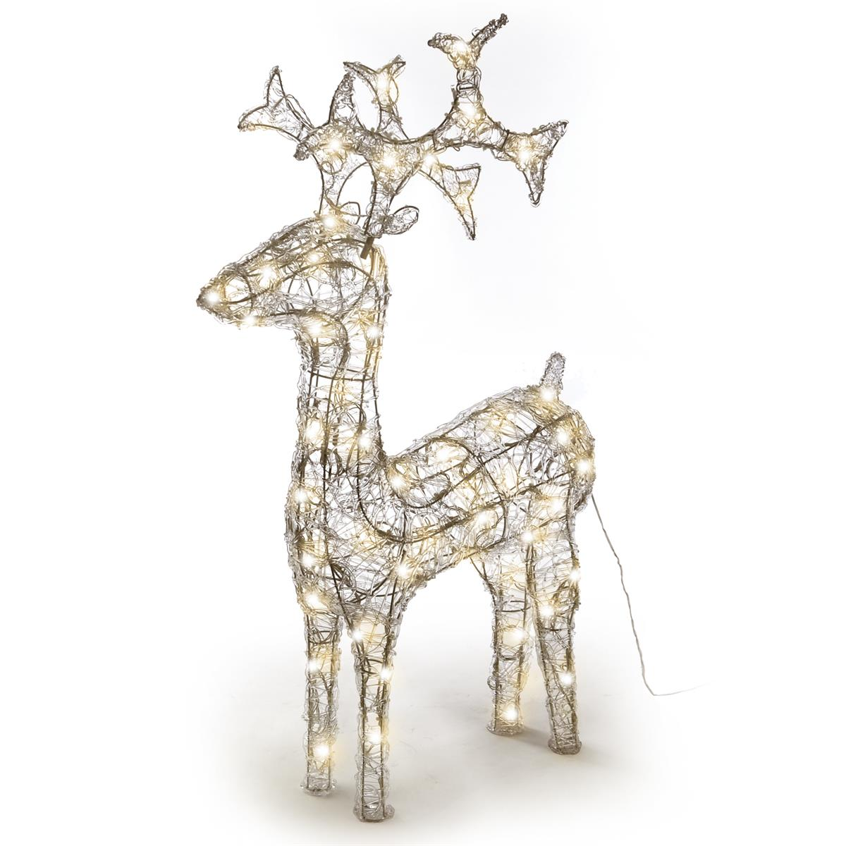 Weihnachtsbeleuchtung Figuren Led.Rentier Acryl 120 Led Weihnachtsbeleuchtung Weihnachten Figur 100 Cm
