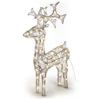 Rentier Acryl 120 LED Weihnachtsbeleuchtung Weihnachten Figur 100 cm warm weiß