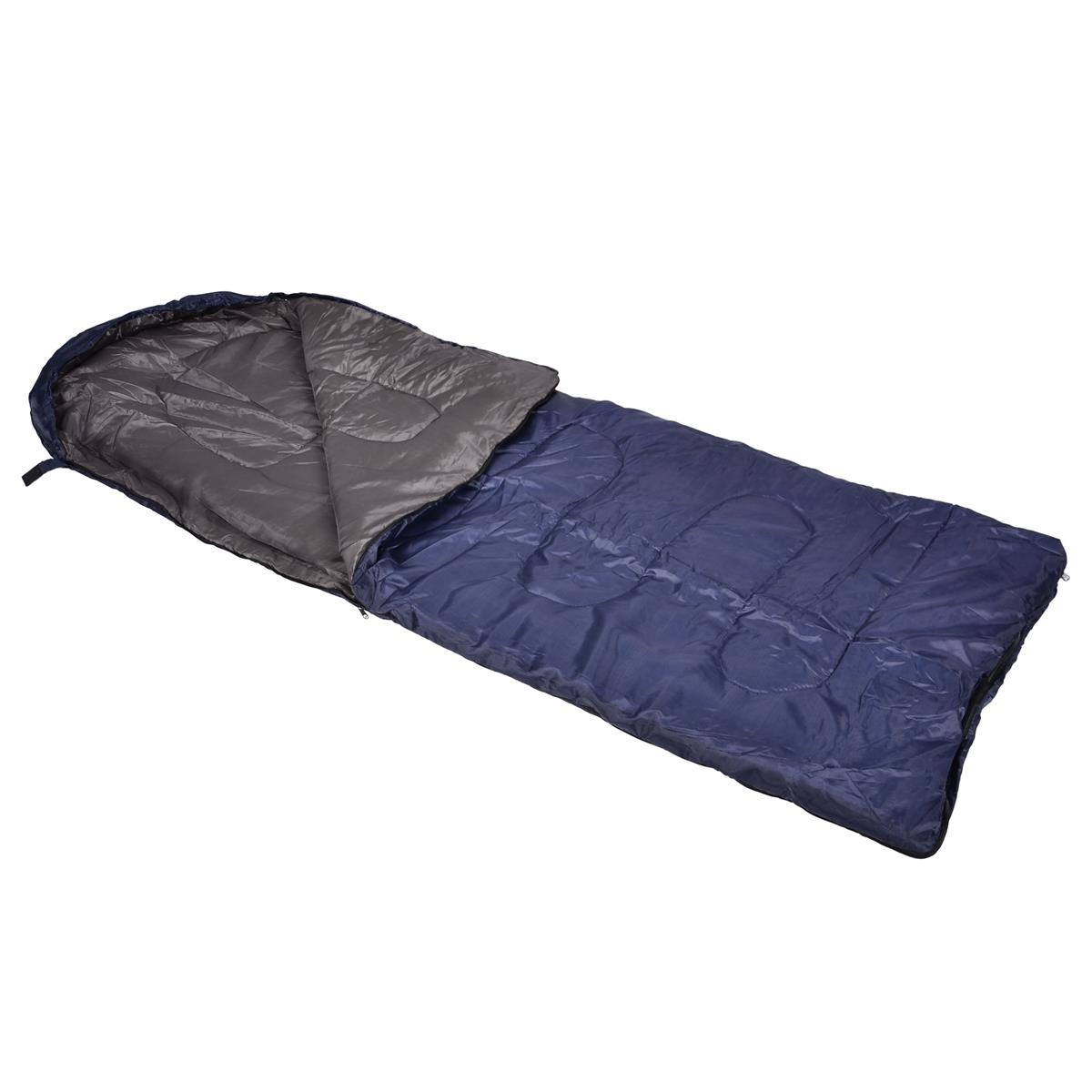 Schlafsack 180 cm blau 200g/m² Polyester Camping