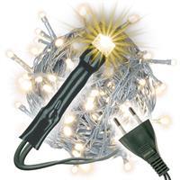 100er LED-Lichterkette warm weiß Partybeleuchtung Weihnachtsbeleuchtung Innen