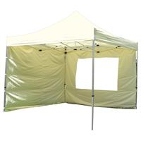 PROFI Falt Pavillon mit 4 Seitenteilen 3x3m Champagner Dach wasserdicht 270 g/m²