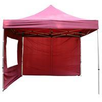 PROFI Falt Pavillon 4 Seitenteile 3x3m burgund rot Dach wasserdichte 270 g/m²