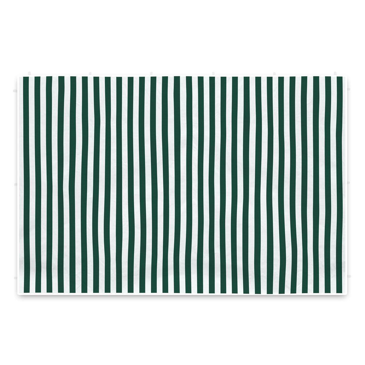 2 PE Seitenteile ohne Fenster 3m für Pavillon grün weiß 100 g/m² wasserdicht