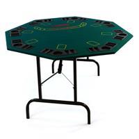 Profi Casino Pokertisch klappbar 8-eckig 120 x 120cm Höhe 72 cm mit Chiptray