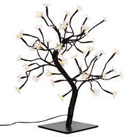 48 LED Baum mit Blüten warm weiß Lichterbaum Blütenbaum 45 cm Timer Trafo