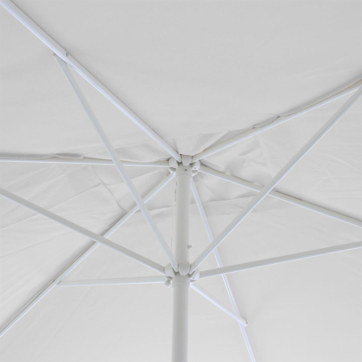marktschirm sonnenschirm rechteckig 2x3 m wei polyester. Black Bedroom Furniture Sets. Home Design Ideas