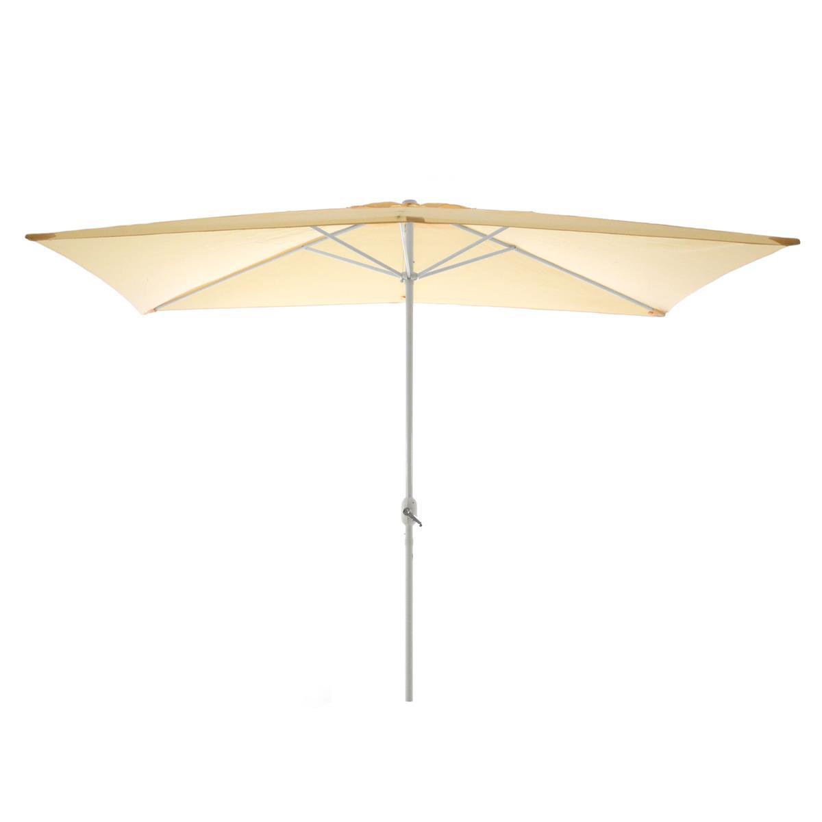 Sonnenschirm eckig 2x3m beige Kurbel Marktschirm Rechteckschirm Sonnenschutz