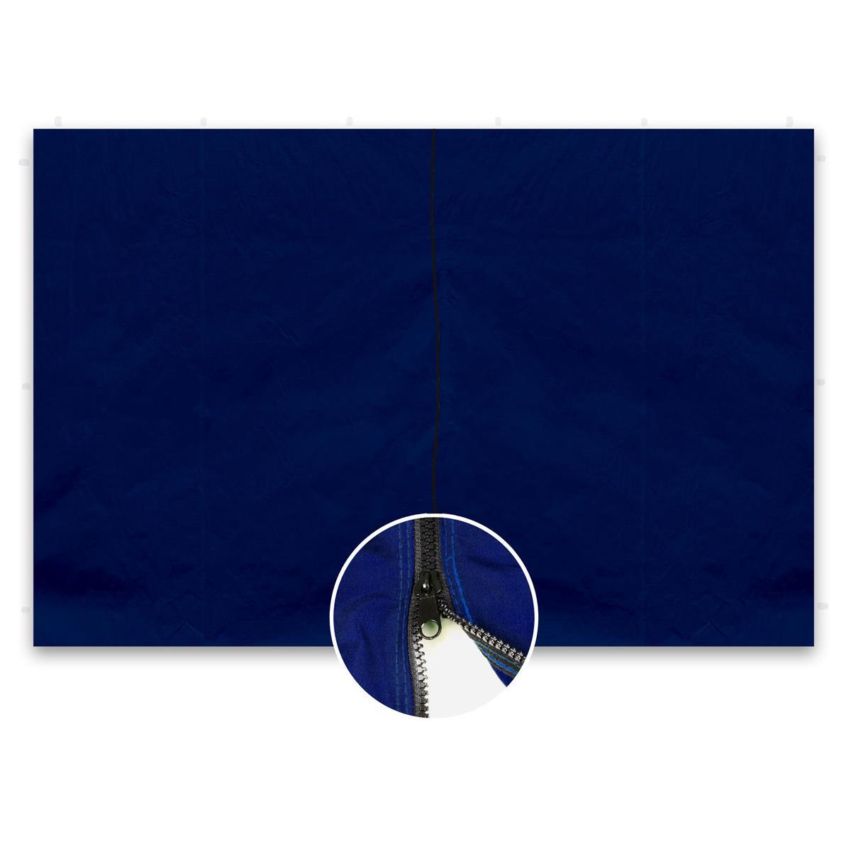 2 Seitenteile ohne Fenster für PROFI Falt Pavillon 3x3m blau 180 g/m² Seitenwand