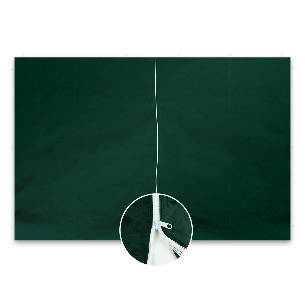 2 Seitenteile ohne Fenster für PROFI Falt Pavillon 3x3 m grün PE Reißverschluss