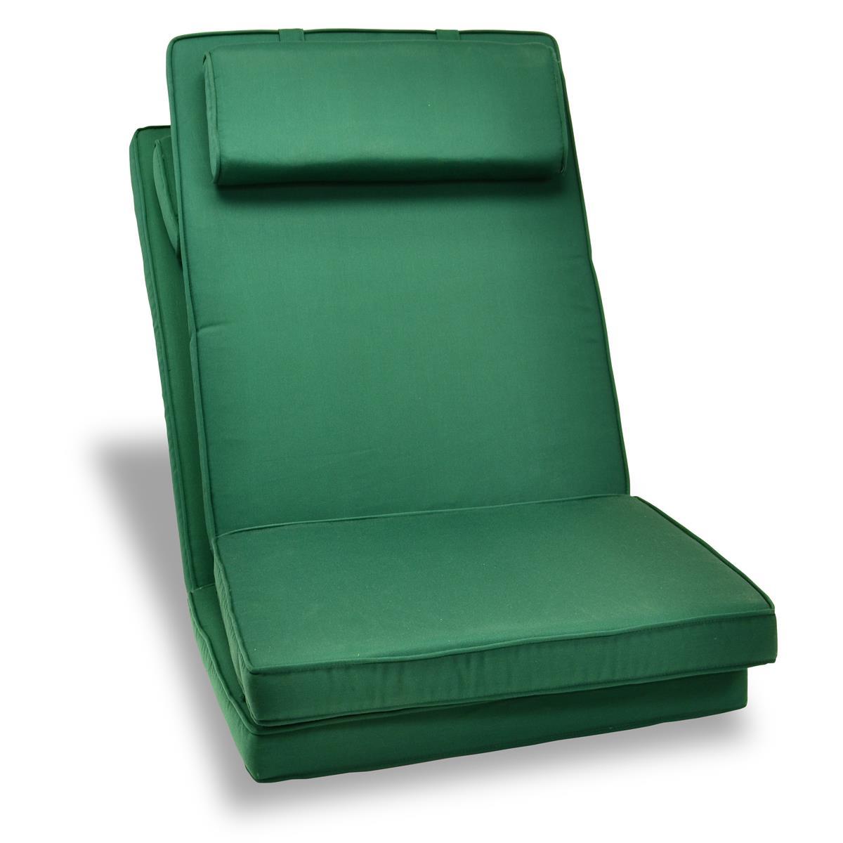 DIVERO 2er Set Sitzauflage Stuhlauflage Hochlehner Gartenstuhl Klappstuhl grün