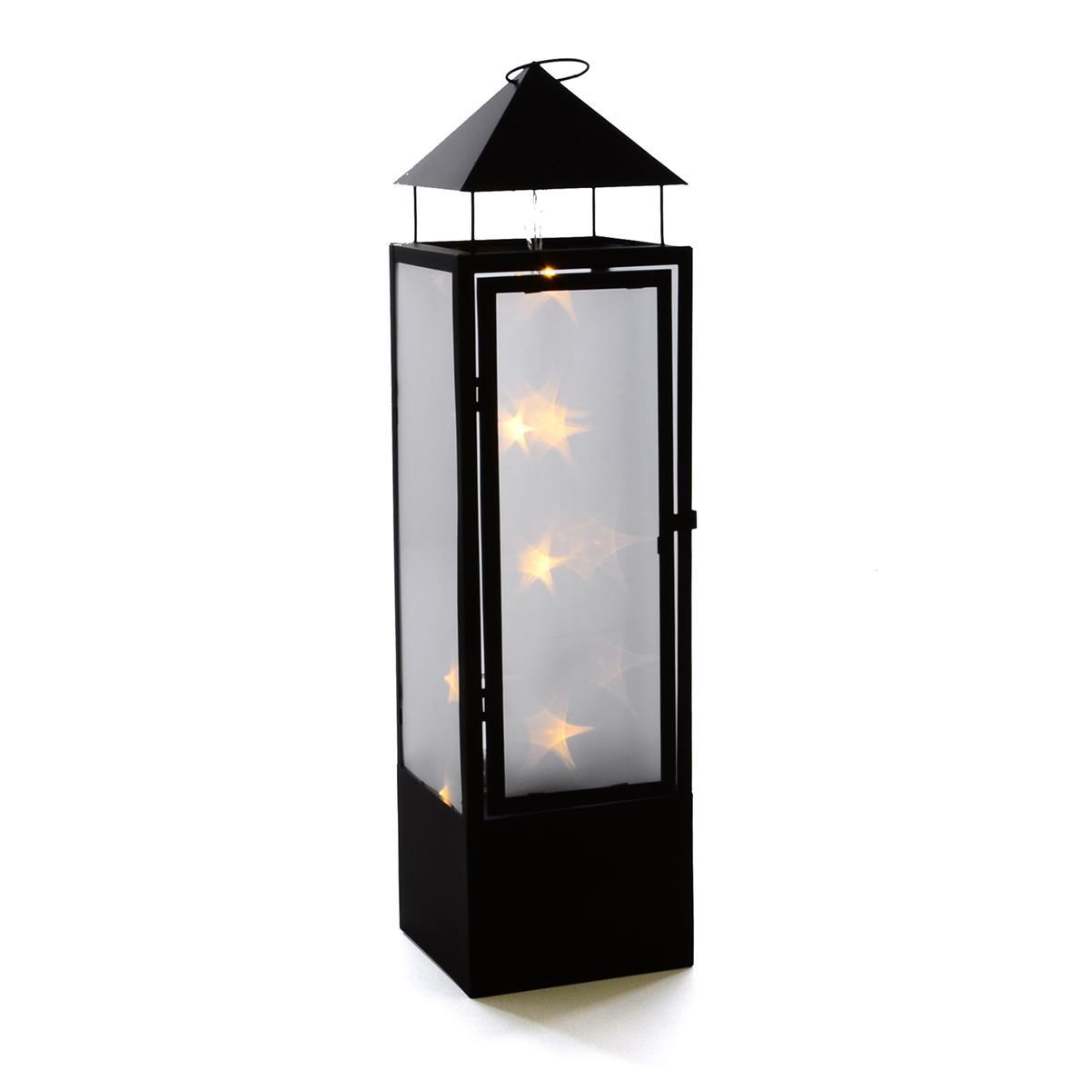 20 LED Laterne Holografie 3D Effekt 70 cm Batterie Windlicht Leuchte Timer außen