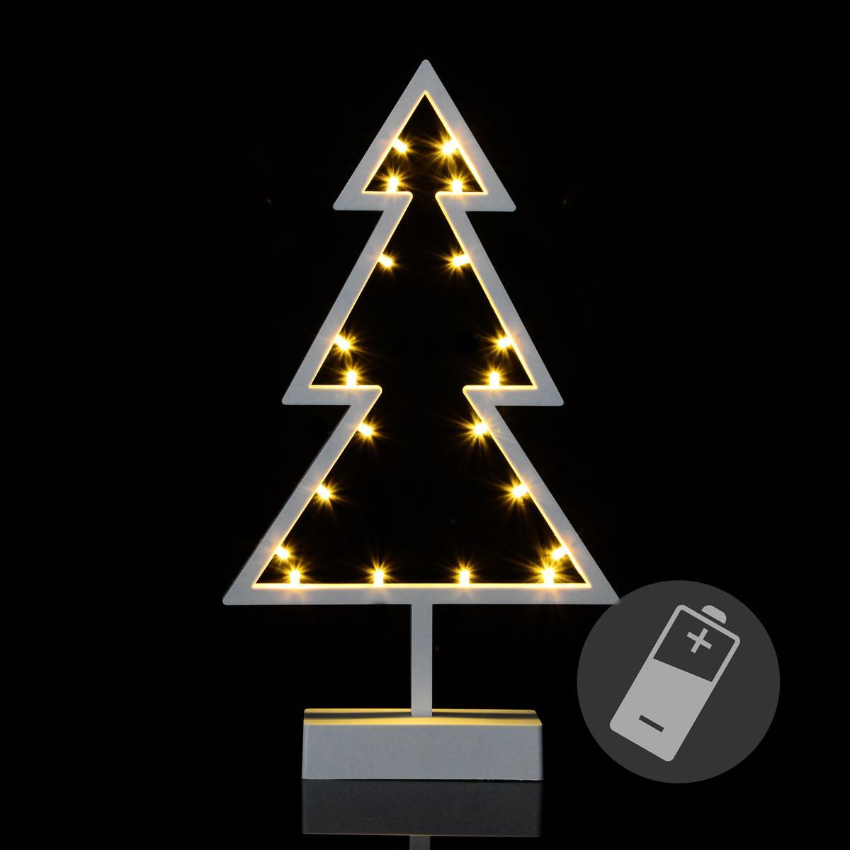 20 LED Dekoleuchte Baum warm weiß Weihnachtsbaum Lichterbaum 38 cm Xmas Batterie