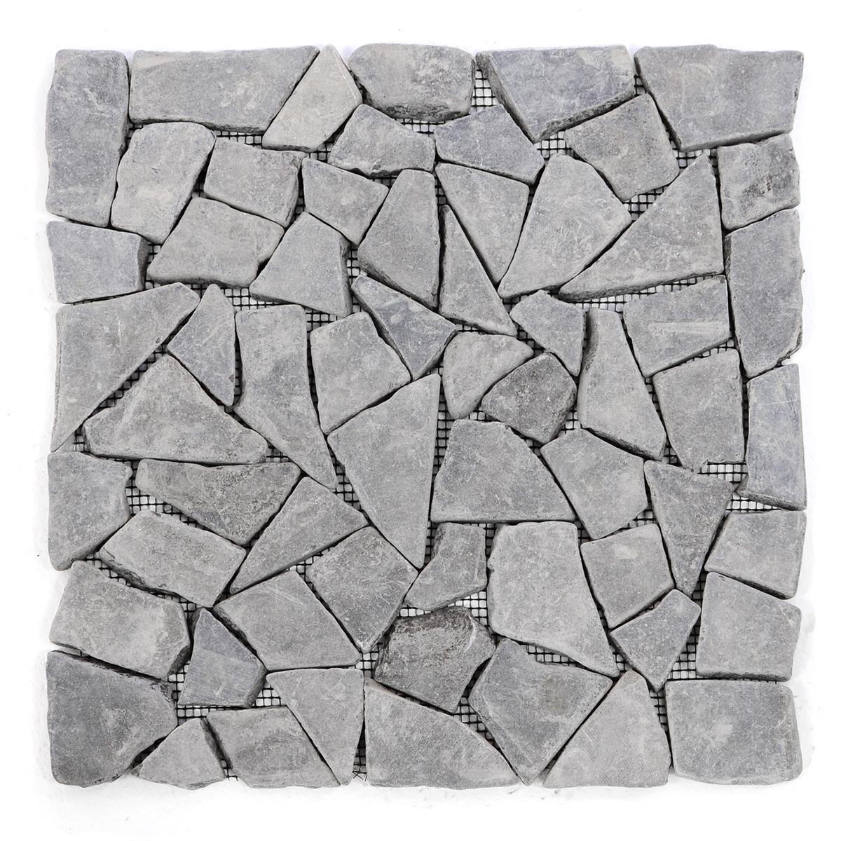 Marmormosaik Mosaikfliese anthrazit /& weiß mit kleinen Steinchen