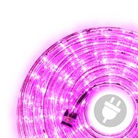 Lichtschlauch LED 20 m 480 LED pink rosa Lichterkette Partybeleuchtung