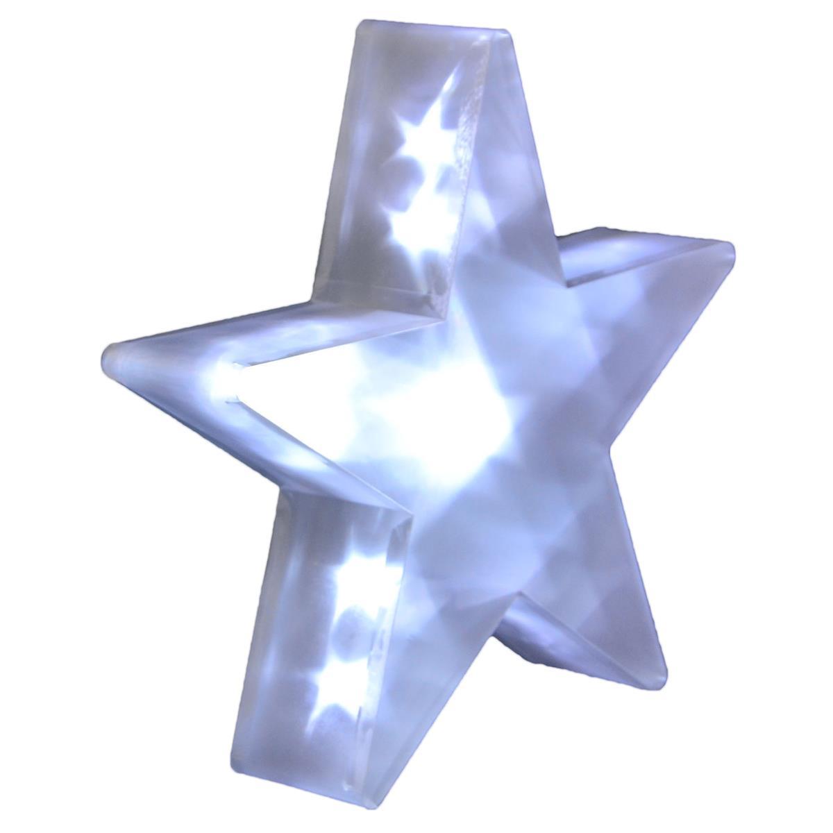 PVC Stern 3D Hologramm Effekt 20 LED Weihnachtsstern 35 cm Batterie mit Timer