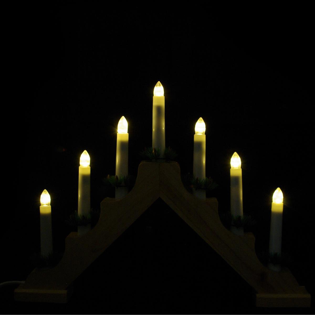 Weihnachtsbeleuchtung Lichterbogen.Schwibbogen Lichterbogen 7 Led Lichter Weihnachtsbeleuchtung Deko