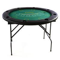 Pokertisch klappbar rund Ø120 cm Roulette Kessel, tauschbare Spielplatten