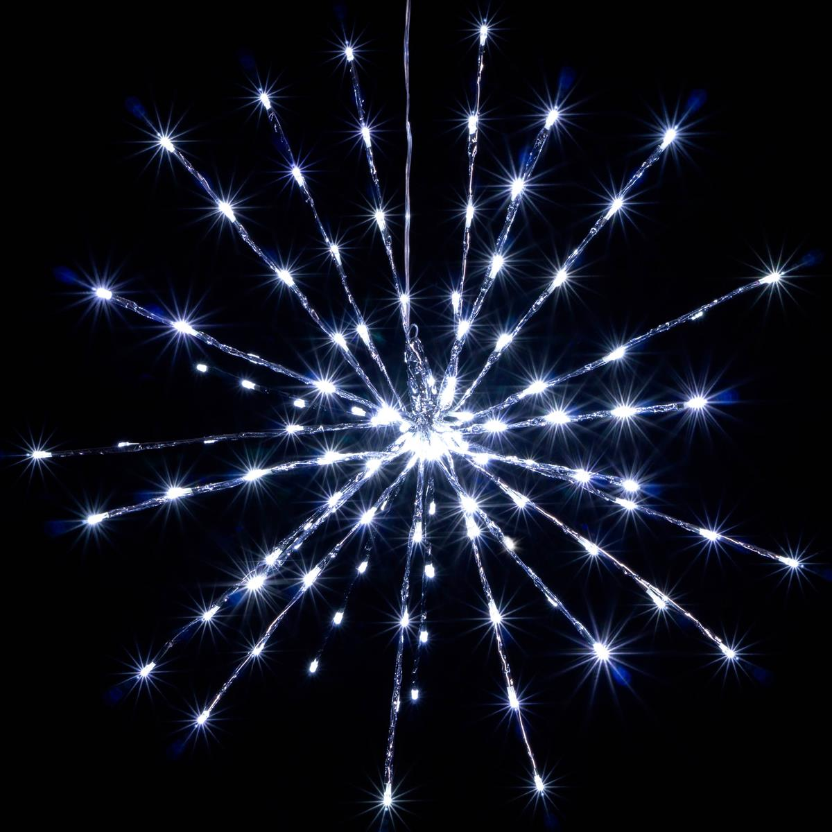 120 Led Meteor Stern Kalt Weiss 60 Cm Trafo Timer Weihnachtsstern