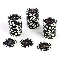 50 Poker-Chips Wert 100 Laserchip 12g Metallkern ergänzend zum Pokerkoffer