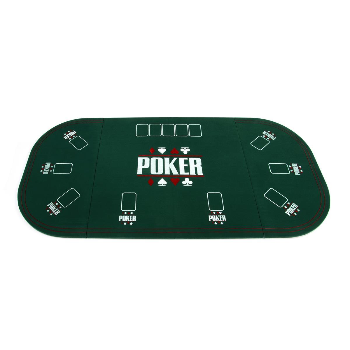 Faltbare Tischauflage Pokertisch Casino Pokerauflage 160 x 80 cm klappbar