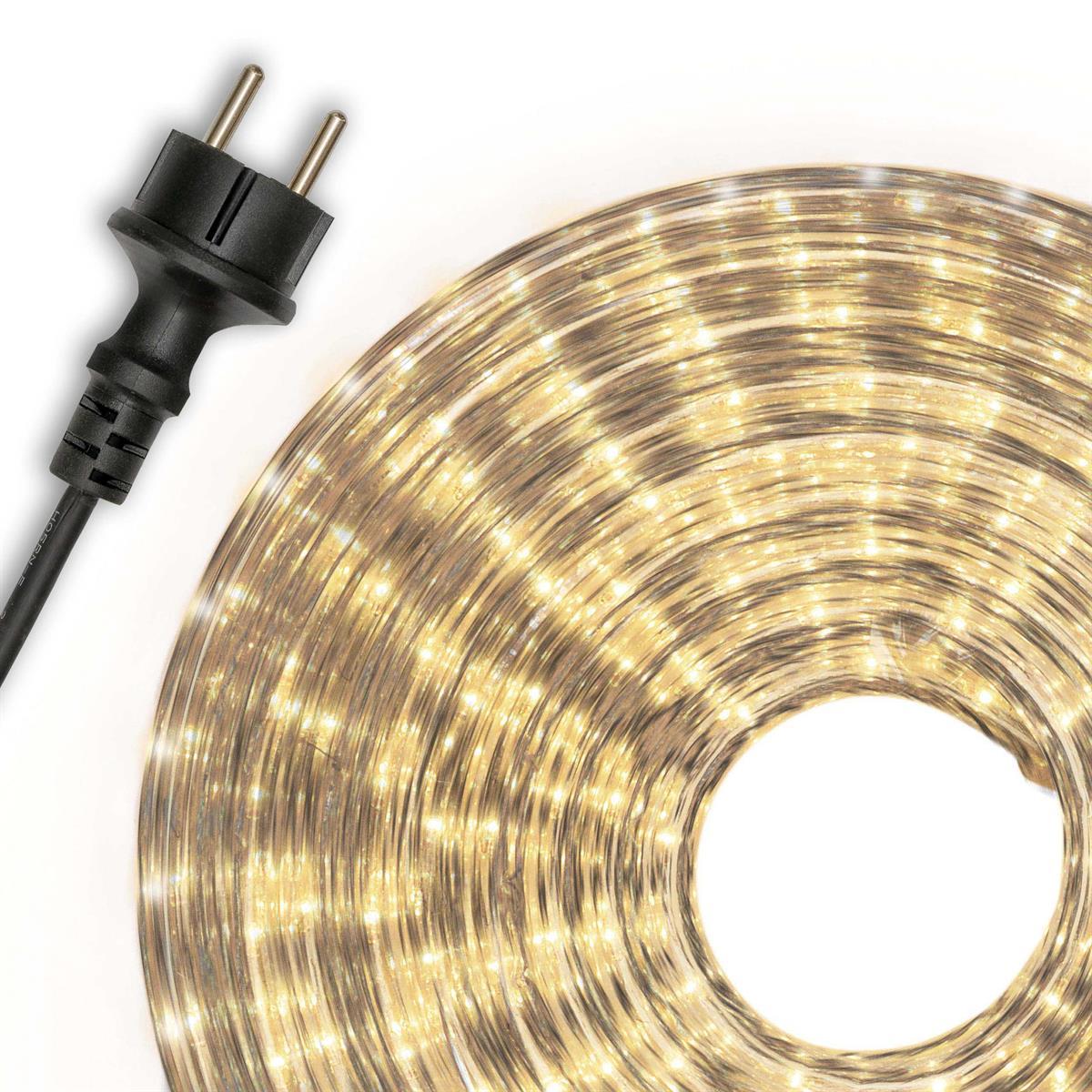 Lichterschlauch warmweiß 20m Lichterkette  Weihnachtsbeleuchtung XMAS