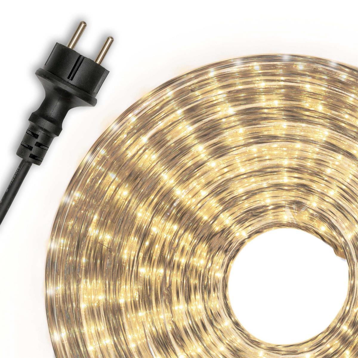 Lichterschlauch weiß 50m Lichterkette Lichtschlauch Weihnachtsbeleuchtung XMAS