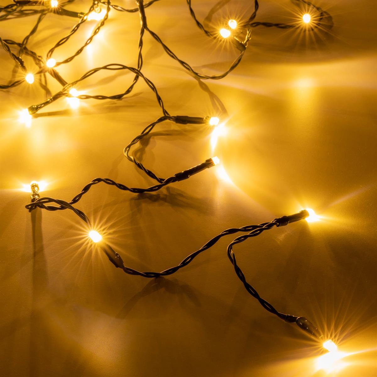 100er LED Lichterkette kaltweiß Weihnachten Beleuchtung Stimmungslicht Deko