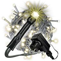 100 LED Lichterkette mit Trafo Timer warm-weiß Außen grünes Kabel Weihnachten