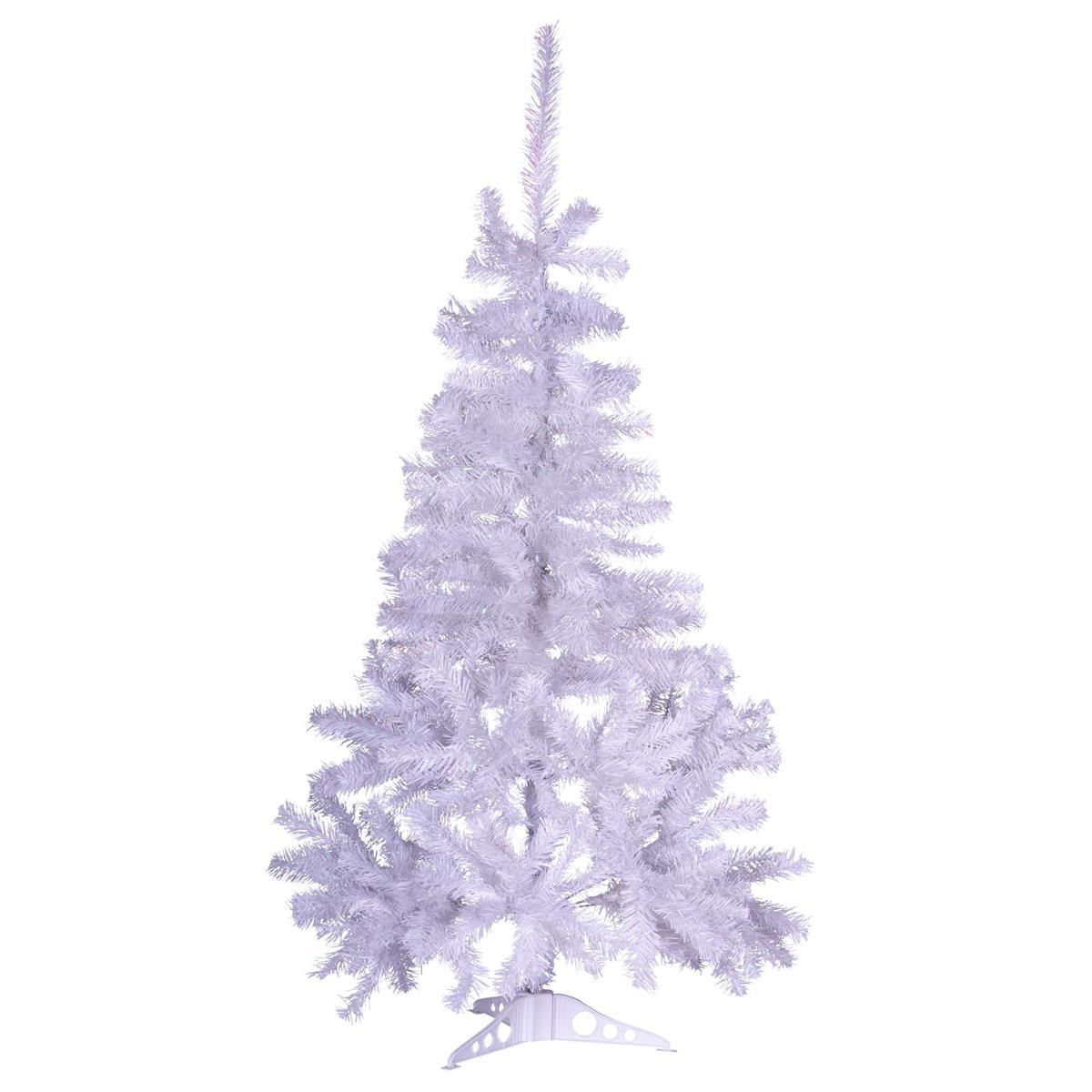 """Weihnachtsbaum """"weiß"""" mit Glitzereffekt 120 cm Christbaum mit Ständer X-Mas"""