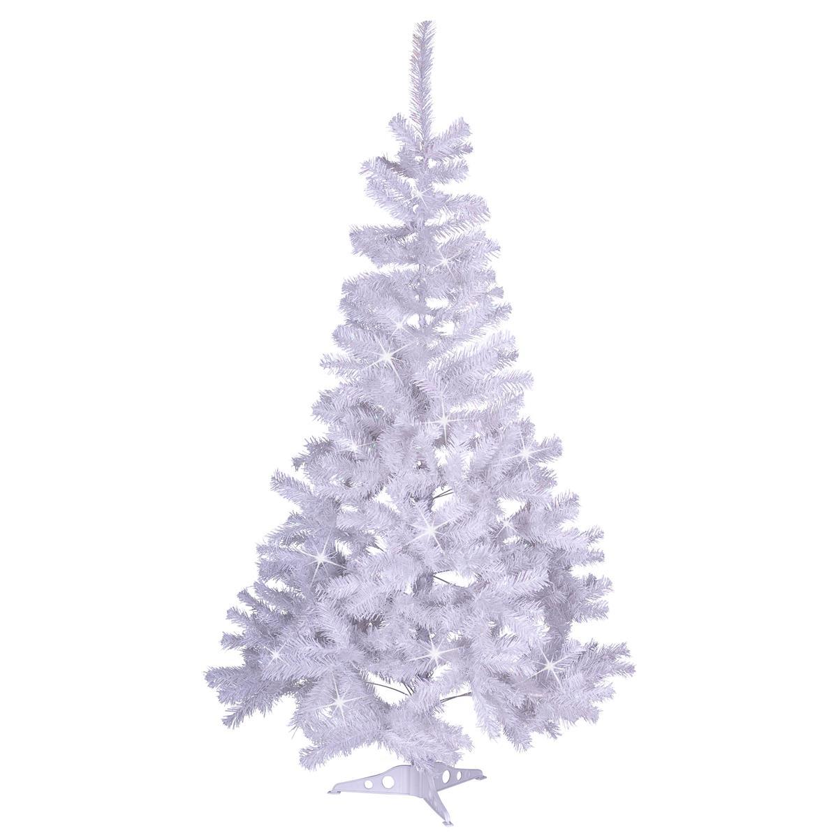 """Weihnachtsbaum """"weiß"""" mit Glitzereffekt - 150 cm Christbaum mit Ständer X-Mas"""