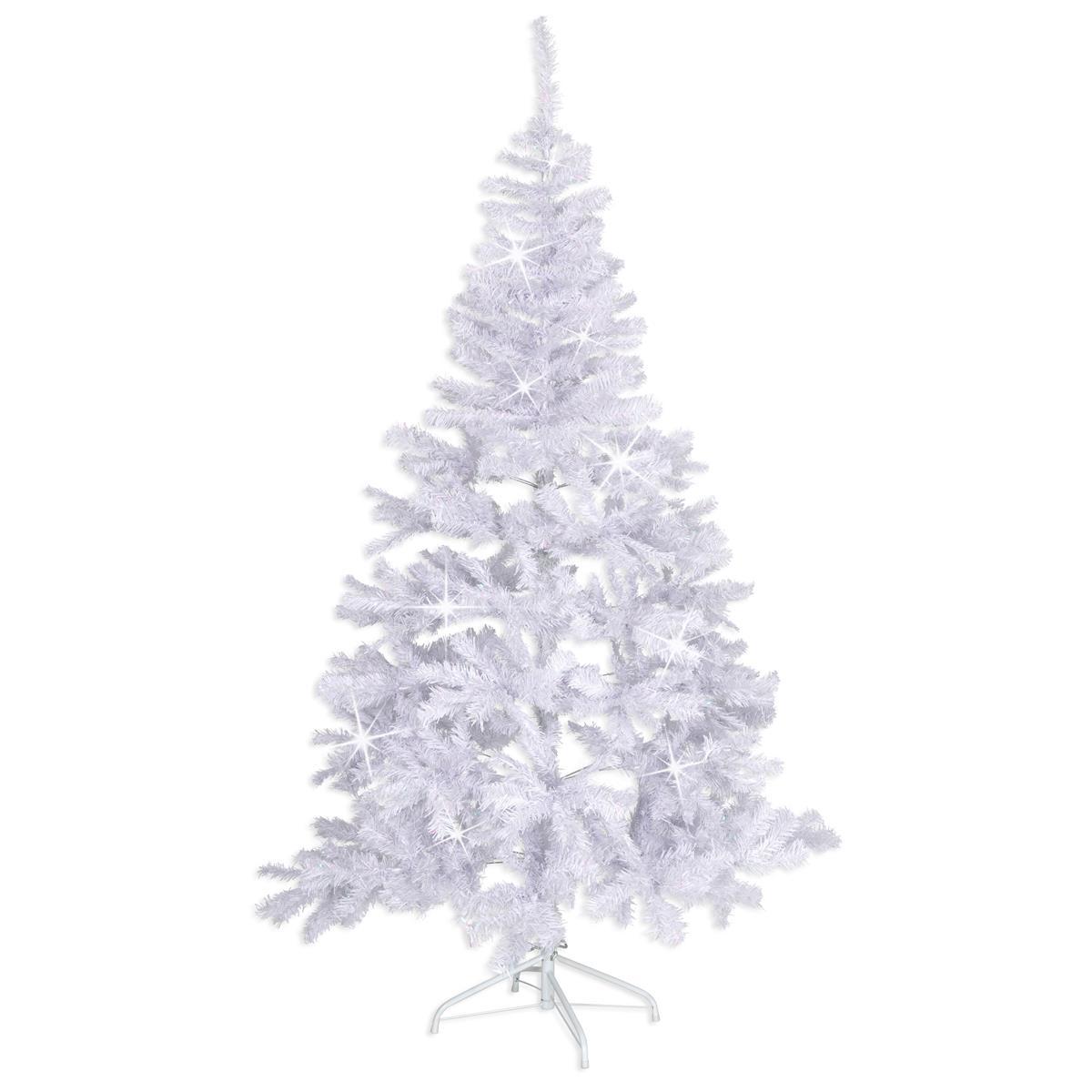 """Weihnachtsbaum """"weiß"""" mit Glitzereffekt- 180 cm Christbaum mit Ständer X-Mas"""