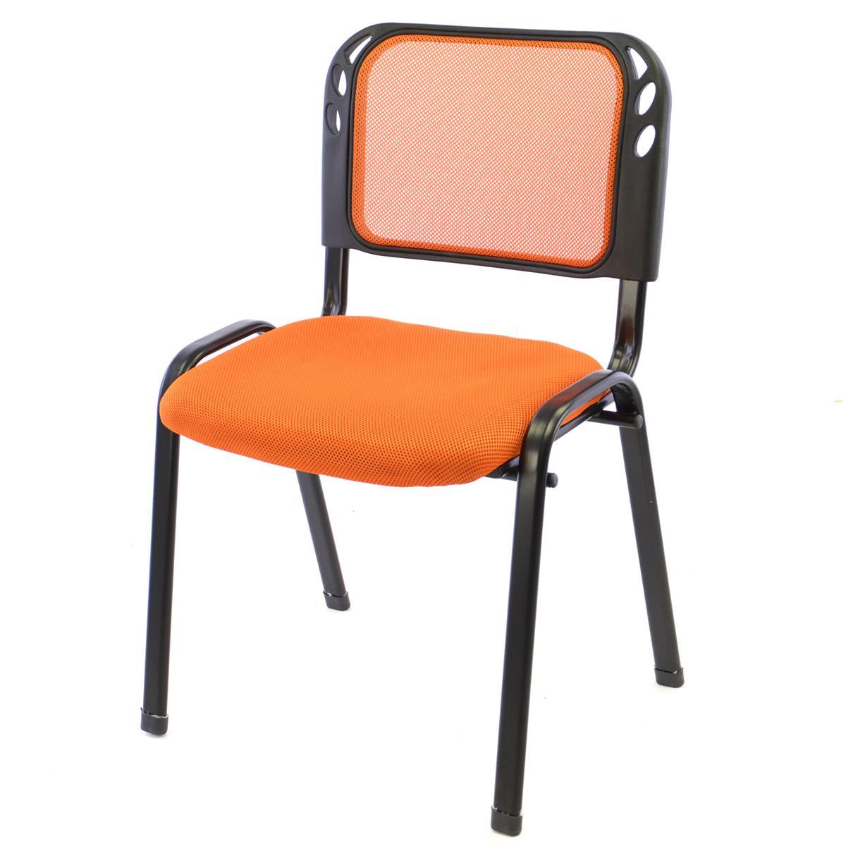 Besucherstuhl Bürostuhl Konferenzstuhl Sitzfläche orange gepolstert stapelbar