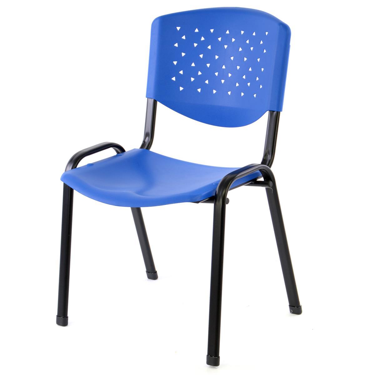 Besucherstuhl Bürostuhl Konferenzstuhl Sitzfläche Blau Kunststoff stapelbar
