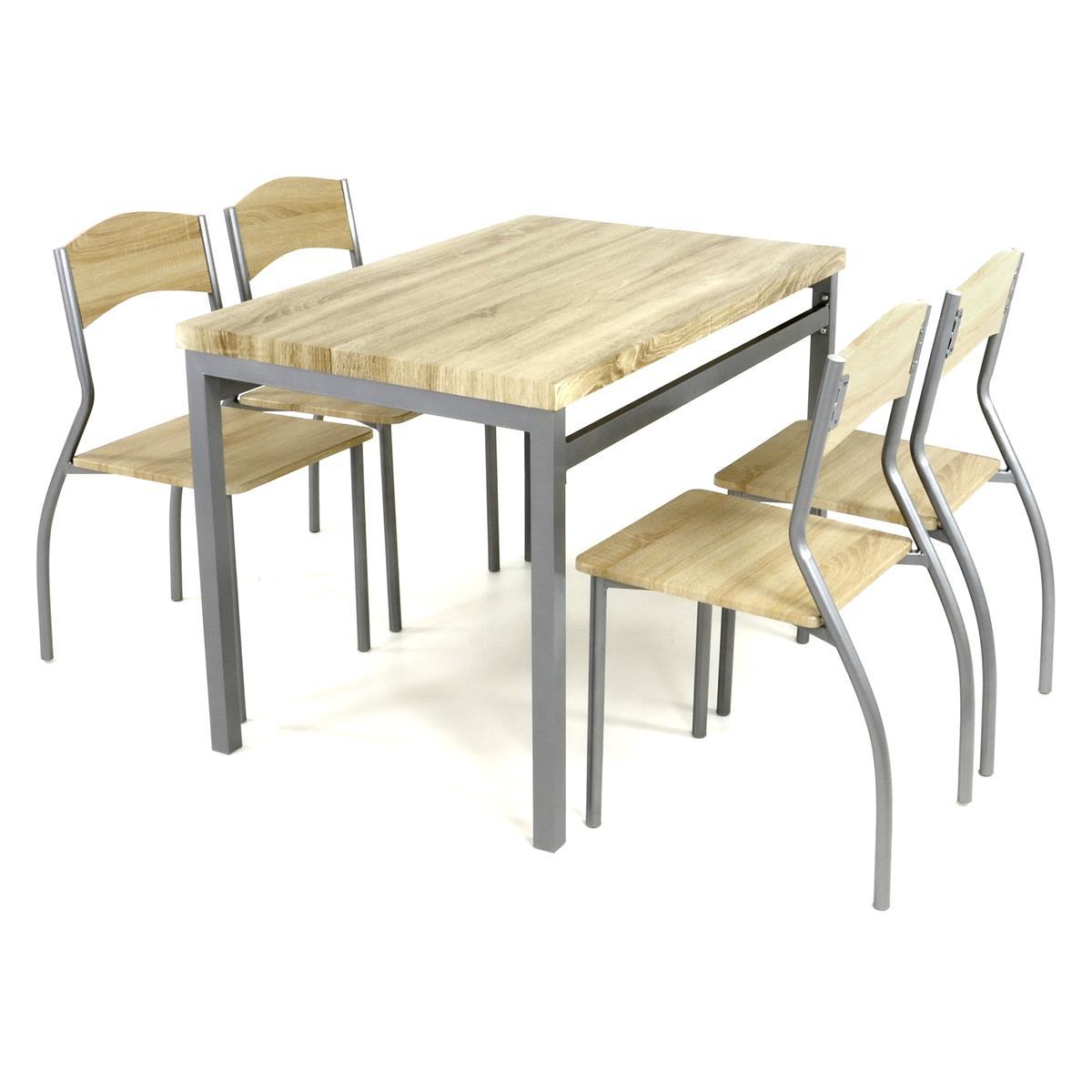 5tlg Küchenset Sitzgruppe 1 Esszimmertisch 4 geschwungene Stühle Küchentisch