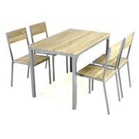 5 tlg Küchenset Sitzgruppe 1 Tisch 4 Stühle Esstisch Esszimmerstuhl Küchentisch