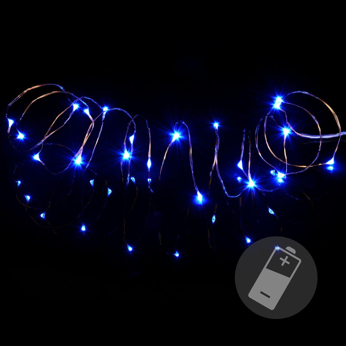 20 LED Mini Lichterkette blau Innenbeleuchtung Weihnachten Xmas Draht